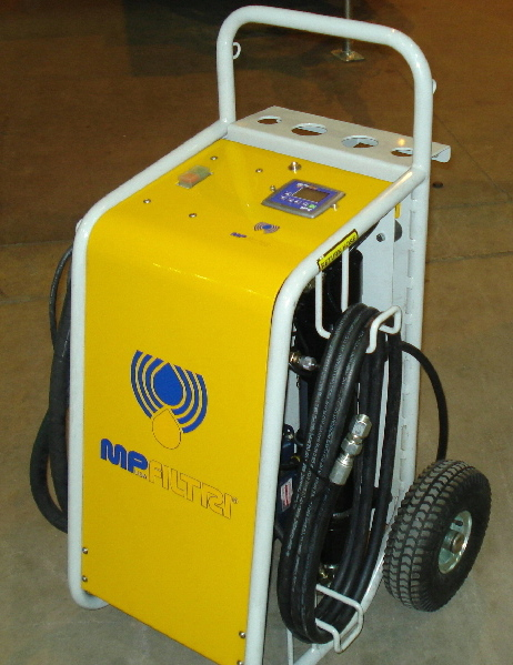 Portable oil filter cart and dehydrator MP DH100 for hydraulics
