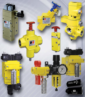 Pneumatic Valves, silencers and re-classifiers distributed by Quality Hydraulics